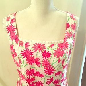 Lilly Pulitzer Floral Ruffle Dress Size 12